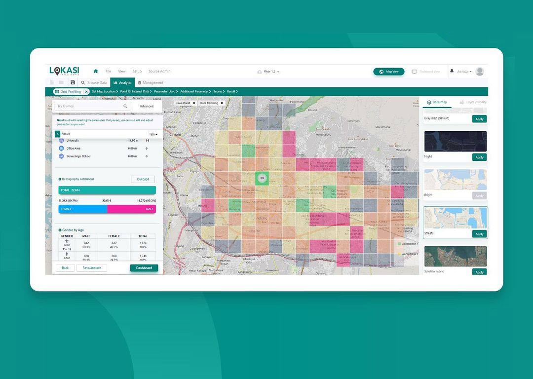 Find a Business Location Potential Using Grid Analysis